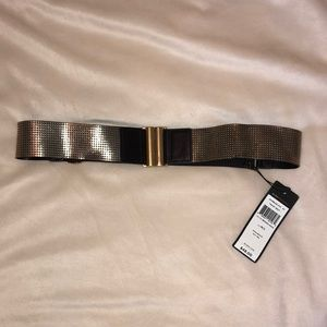 BCBG MAXAZRIA gold belt